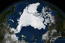 Eis in der Arktis