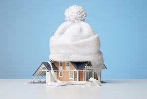 Haus mit Mütze