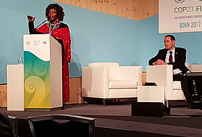 Agnes Leina Ntikaampi aus Kenia auf der COP23