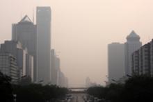 Großstadt im Smog