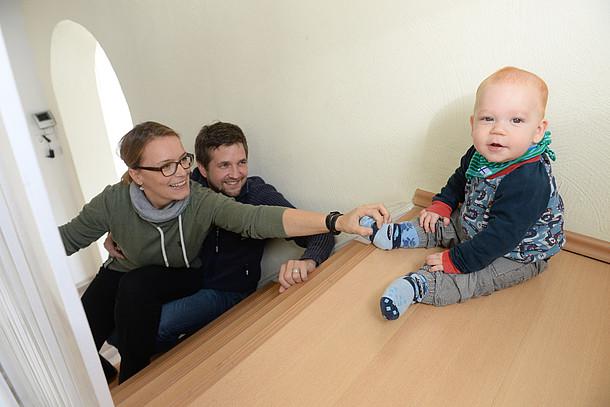 Praxistester Familie Krämer in ihrem Altbauhaus