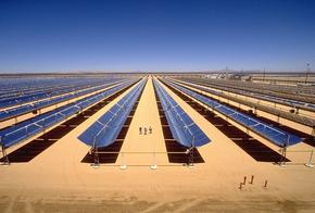 Parabolrinnenkraftwerk in der Mojavewüste