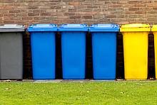 Verschiedene Mülltonnen