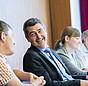 """Walther Tillner bei einem Workshop auf der Fachtagung """"Wirksam sanieren für den Klimaschutz""""."""