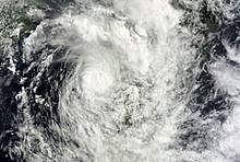 Satellitenbild von Zyklon Irina
