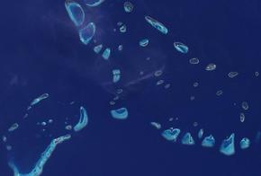 Atoll der Malediven, Vogelperspektive