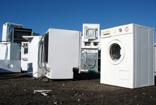 Elektroschrott mit wertvollen Rohstoffen: Waschmaschinen und Trockner