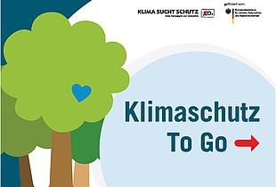 """Titelseite der Broschüre """"Klimaschutz To Go"""""""