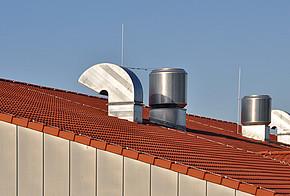 Lueftung auf Hausdach