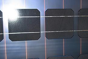 Aufbau eines Solarmoduls mit Solarzellen