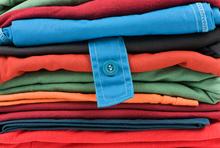 Stapel Textilien