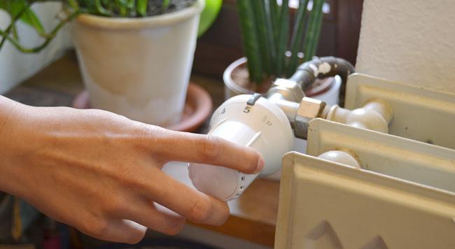 Vor dem Entlüften der Heizung, muss das Thermostat auf die höchste Stufe gestellt werden.