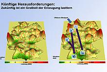 Grafik mit zwei Landkarten