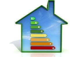 Haus-Symbol mit Effizienzklassen