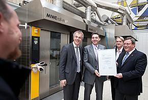 Klimaschutzminister NRW verleiht Bio-Bäcker Preis