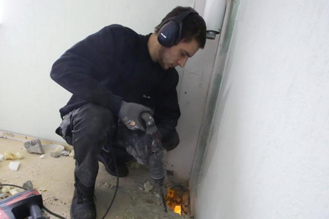 Handwerker mit Presslufthammer