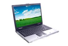 Grüner Laptop