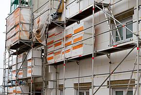 Hausfassade wird gedämmt
