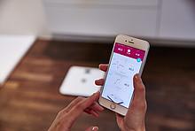 Smart Home Nutzung via App: Smarte Waage