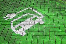Symbol für Elektroauto