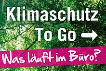 """Cover der Broschüre """"Klimaschutz to go"""""""