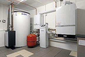 Brennstoffzellen-Heizung im Heizkeller