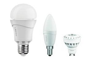 LED-Lampen im Testpaket: klassische Form, Kerze und Spot