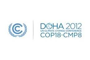 Das Logo der Klimakoferenz in Doha