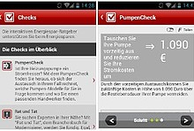 Screenshot EnergieCheck