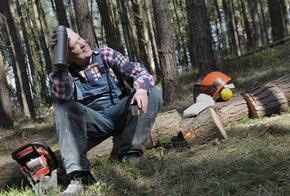Holzfäller bei der Pause