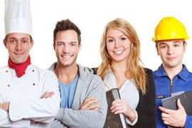 Menschen mit verschiedenen Berufen